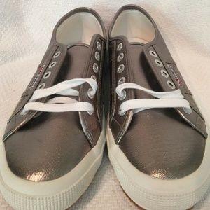 Superga Classic Metallic Silver Sneaker Size 41